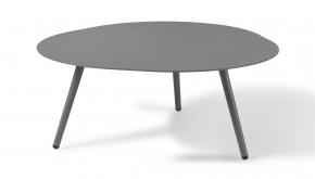 Alu Bijzettafel Sorrento XL Grey