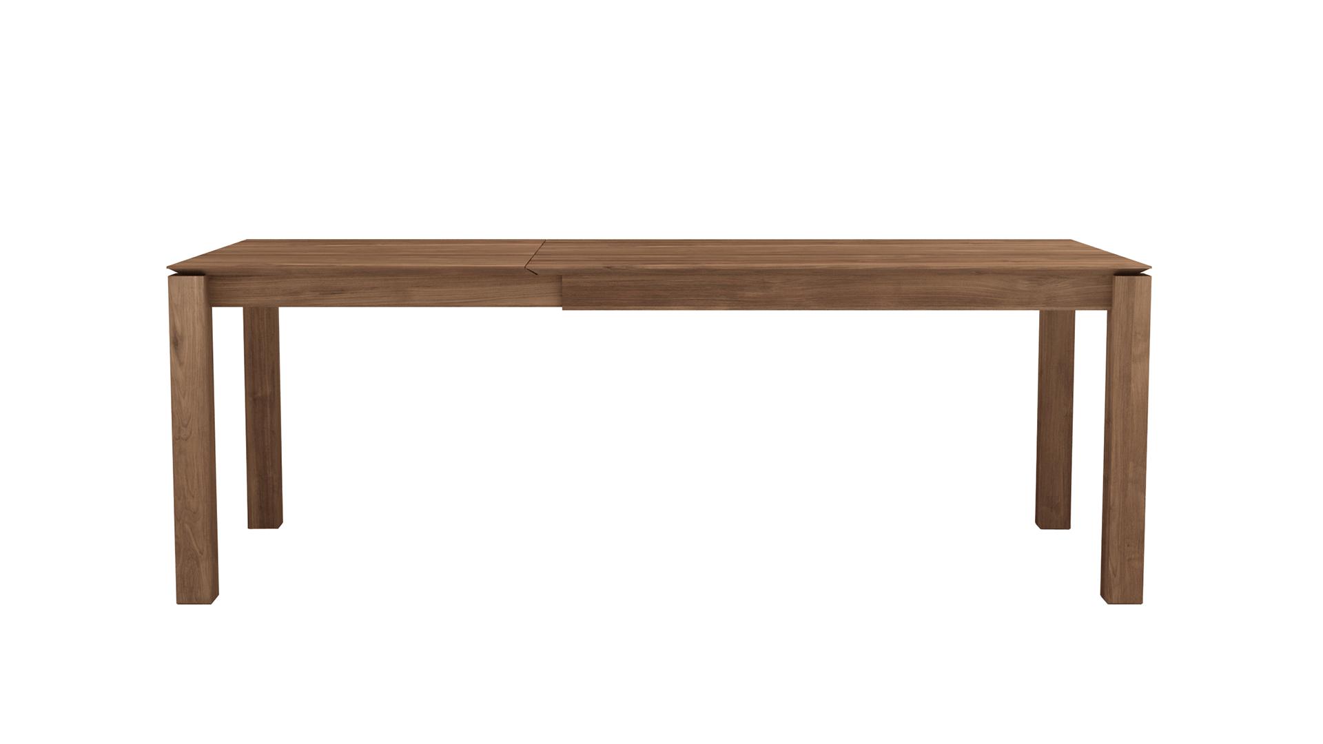 Uitschuifbare Eettafel Teak.Ethnicraft Teak Slice Uitschuifbare Eettafel 180 280x100cm