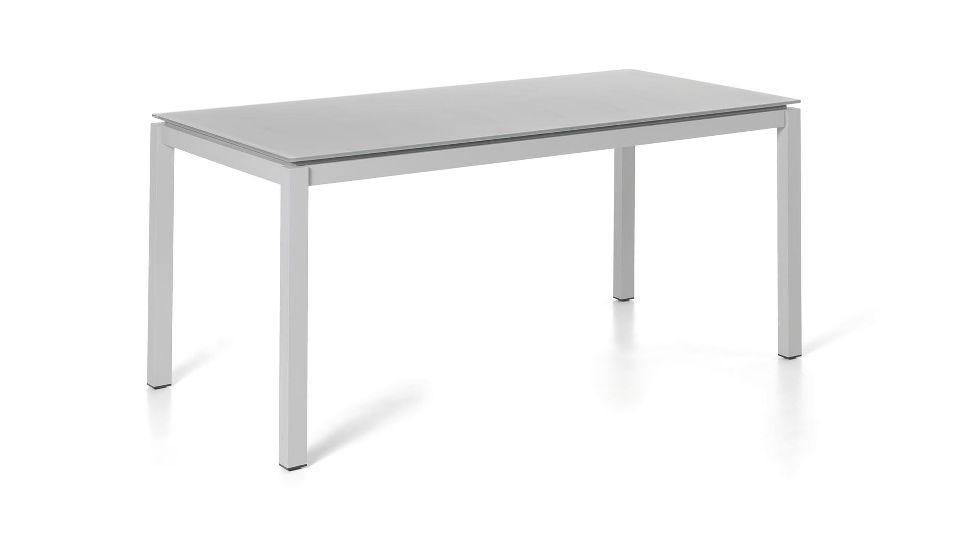 Tuintafel Met Glazen Bovenblad.Alu Tuintafel Granada Silver Grey 220x100cm Glas Light Grey