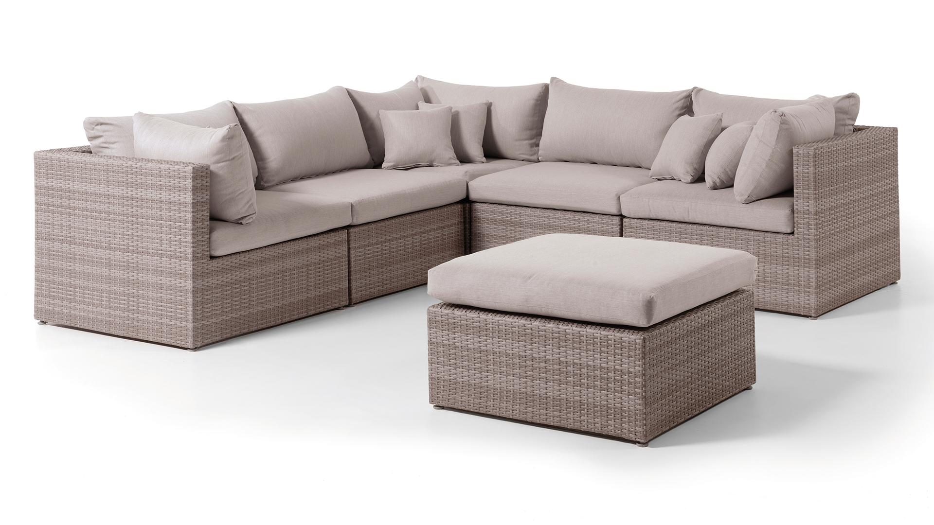 Wicker Loungeset Ravenna 255x255cm
