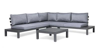Suns Alu Vita Loungeset Set 4-delig Royal Grey Mat 273x89x273cm