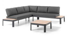 Alu - Teak Loungeset Oslo Charcoal