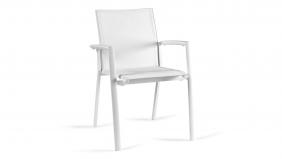 Alu Stapelstoel Rimini White Mat - Tex White