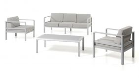 Alu Loungeset Ancona Silver Grey