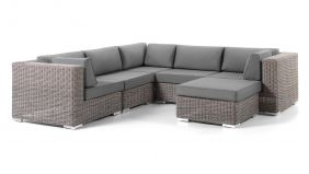 Wicker Loungeset Memphis Kubu Brushed 255x255cm