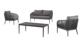 Azur Alu Loungeset Parka Charcoal - Dark Grey