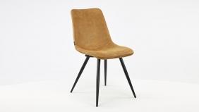 MX Sofa Interieurstoel Spot Softyl Cognac - Zwart Metalen Poten