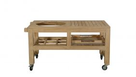 Teakline Collection Teak Kamado 19 Inch Barbecue Trolley