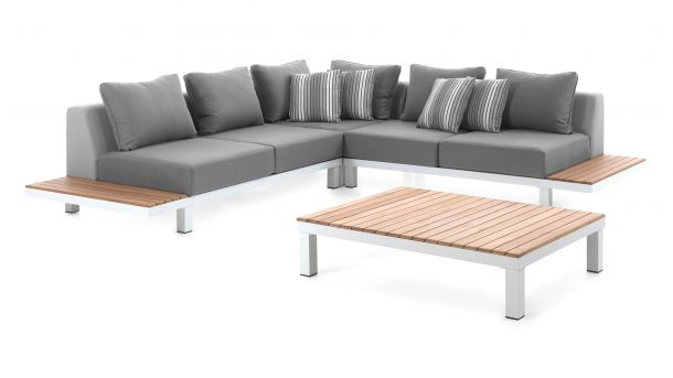 Alu - Teak Loungeset Hawai White