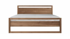Teak Light Frame Bed 191x210x95cm