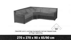 AeroCover Loungesethoes Hoekset Hoge Rug L-vorm 270x270x90cm