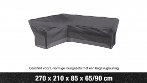 AeroCover Loungesethoes Hoekset Hoge Rug L-vorm Links 270x210x90cm Ripstop