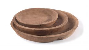 Teak 3 Ronde Dienbladen Homeware Set