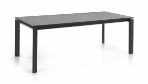 Alu Tuintafel Bettini Charcoal 220-280x100cm Keramiek Antracite