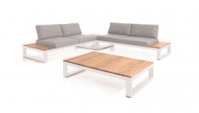 Azur Alu - Teak Loungeset Torino White