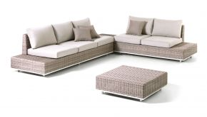Wicker Loungeset Palermo Cappuchino