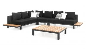 Alu - Teak Loungeset Hawai Charcoal