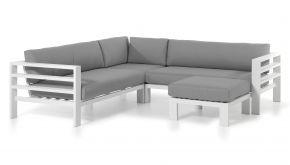Alu Loungeset Cadiz White 246x246cm