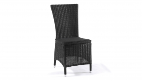 Wicker Tuinstoel Firenze Hoge Rug Black