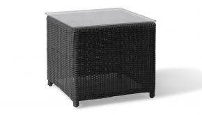 Wicker Bijzettafel Firenze Grey Brushed