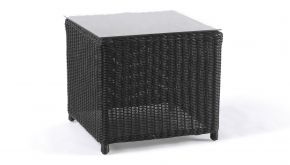 Wicker Bijzettafel Firenze Black Brushed