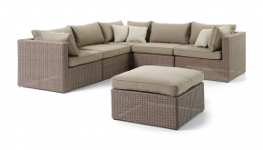 Wicker Loungeset Firenze Natural Brushed