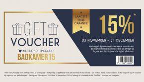 -15% Gift Voucher Code Badkamers: BADKAMER15