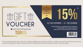 -15% Gift Voucher Code Tuinmeubelen: TUIN15