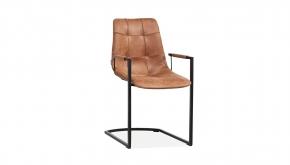 Interieurstoel Condor Softyl Cognac - Zwart Metalen Poten