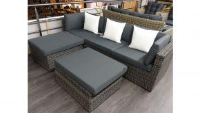 Luxury Lounge Wicker Loungeset Maranello Rock Grey