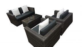 Luxury Lounge Wicker Matahari Two Tone Grey