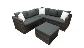 Luxury Lounge Wicker Loungeset Missouri Grey