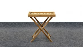 Diamond Collection Teak Dienblad Butler Incl. Staander