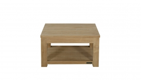 Diamond Collection Teak Salontafel Dubbele Top P8 60x60x45cm
