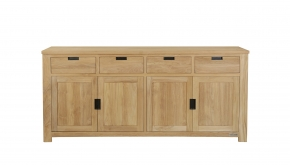 Diamond Collection Teak Dressoir Modern Black 200x50x90cm