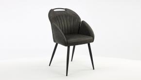MX Sofa Interieurstoel Belize Zorro Antraciet - Zwart Metalen Poten