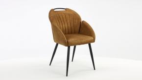 MX Sofa Interieurstoel Belize Zorro Cognac - Zwart Metalen Poten