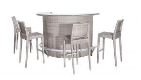 Luxury Lounge Wicker Bartafel Millenium 180x90x118cm