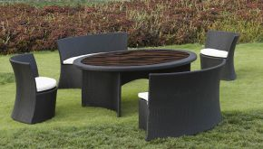 Luxury Lounge Wicker Garden Set Riverside