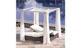 Luxury Lounge Wicker Lounge Sunbed Nevada Black Tie