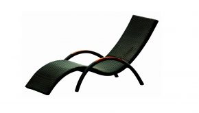 Luxury Lounge Wicker Ligbed Wave Black Tie